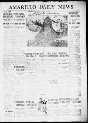 Primary view of object titled 'Amarillo Daily News (Amarillo, Tex.), Vol. 7, No. 236, Ed. 1 Saturday, August 5, 1916'.