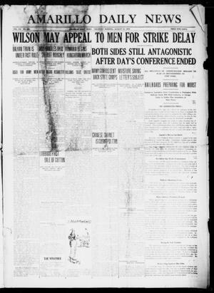 Primary view of object titled 'Amarillo Daily News (Amarillo, Tex.), Vol. 7, No. 258, Ed. 1 Thursday, August 31, 1916'.
