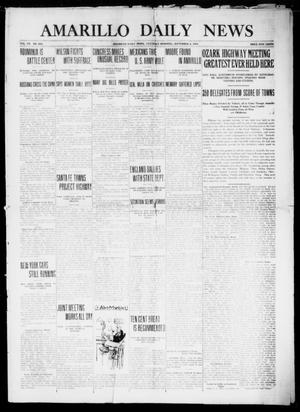 Primary view of object titled 'Amarillo Daily News (Amarillo, Tex.), Vol. 7, No. 266, Ed. 1 Saturday, September 9, 1916'.