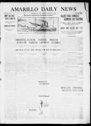 Primary view of object titled 'Amarillo Daily News (Amarillo, Tex.), Vol. 7, No. 281, Ed. 1 Wednesday, September 27, 1916'.