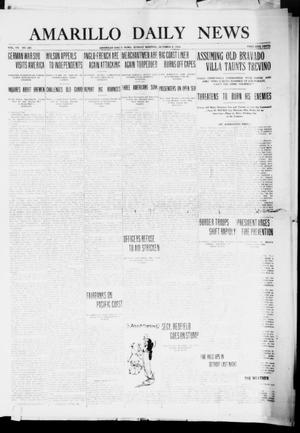 Primary view of object titled 'Amarillo Daily News (Amarillo, Tex.), Vol. 7, No. 291, Ed. 1 Sunday, October 8, 1916'.