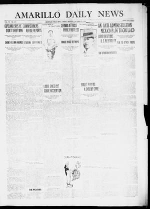 Primary view of object titled 'Amarillo Daily News (Amarillo, Tex.), Vol. 7, No. 307, Ed. 1 Friday, October 27, 1916'.