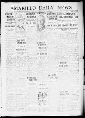 Primary view of object titled 'Amarillo Daily News (Amarillo, Tex.), Vol. 8, No. 18, Ed. 1 Friday, November 24, 1916'.