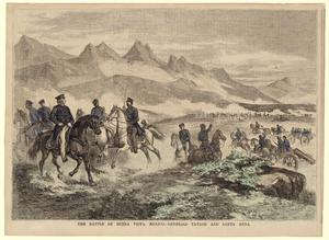 "Primary view of object titled '""The Battle of Buena Vista--Generals Taylor and Santa Anna""'."