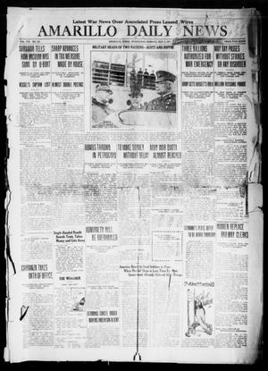 Primary view of object titled 'Amarillo Daily News (Amarillo, Tex.), Vol. 8, No. 154, Ed. 1 Wednesday, May 2, 1917'.