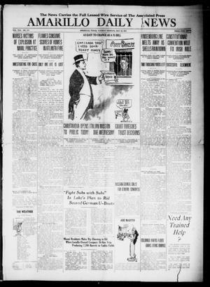 Primary view of object titled 'Amarillo Daily News (Amarillo, Tex.), Vol. 8, No. 171, Ed. 1 Tuesday, May 22, 1917'.