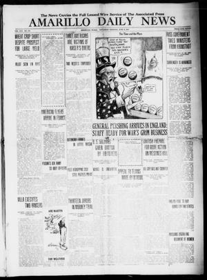 Primary view of object titled 'Amarillo Daily News (Amarillo, Tex.), Vol. 8, No. 187, Ed. 1 Saturday, June 9, 1917'.