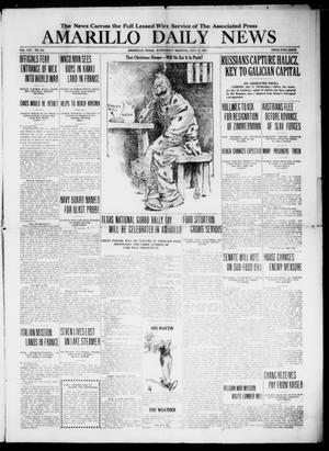 Primary view of object titled 'Amarillo Daily News (Amarillo, Tex.), Vol. 8, No. 214, Ed. 1 Wednesday, July 11, 1917'.