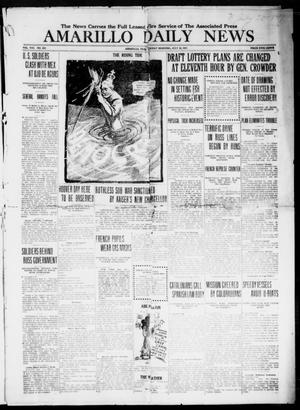 Primary view of object titled 'Amarillo Daily News (Amarillo, Tex.), Vol. 8, No. 222, Ed. 1 Friday, July 20, 1917'.