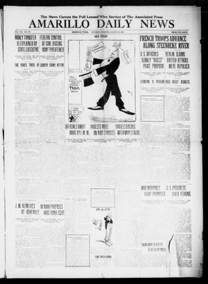 Primary view of object titled 'Amarillo Daily News (Amarillo, Tex.), Vol. 8, No. 247, Ed. 1 Saturday, August 18, 1917'.
