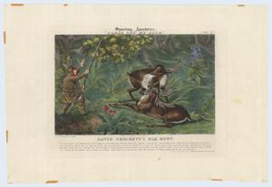 "Primary view of object titled '""David Crockett's Elk Hunt""'."