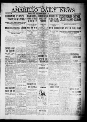 Primary view of object titled 'Amarillo Daily News (Amarillo, Tex.), Vol. 8, No. 306, Ed. 1 Friday, October 26, 1917'.
