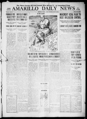 Primary view of object titled 'Amarillo Daily News (Amarillo, Tex.), Vol. 9, No. 110, Ed. 1 Sunday, March 10, 1918'.