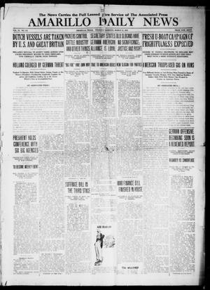 Primary view of object titled 'Amarillo Daily News (Amarillo, Tex.), Vol. 9, No. 119, Ed. 1 Thursday, March 21, 1918'.