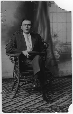 Primary view of object titled '[Walter Falls, Seated]'.
