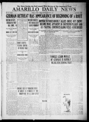 Primary view of object titled 'Amarillo Daily News (Amarillo, Tex.), Vol. 9, No. 264, Ed. 1 Friday, September 6, 1918'.