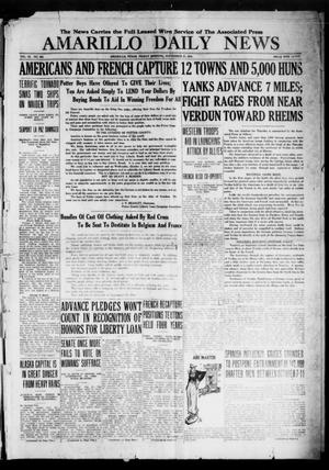 Primary view of object titled 'Amarillo Daily News (Amarillo, Tex.), Vol. 9, No. 282, Ed. 1 Friday, September 27, 1918'.