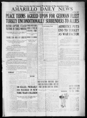 Primary view of object titled 'Amarillo Daily News (Amarillo, Tex.), Vol. 9, No. 313, Ed. 1 Saturday, November 2, 1918'.