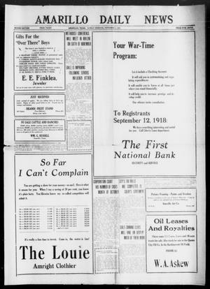 Primary view of object titled 'Amarillo Daily News (Amarillo, Tex.), Ed. 1 Sunday, November 3, 1918'.