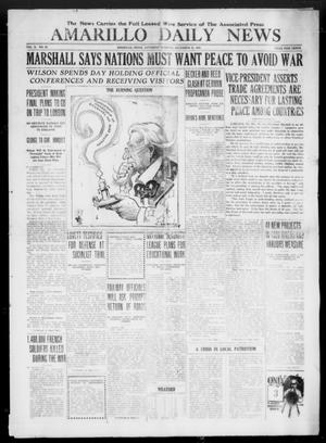 Primary view of object titled 'Amarillo Daily News (Amarillo, Tex.), Vol. 10, No. 42, Ed. 1 Saturday, December 21, 1918'.