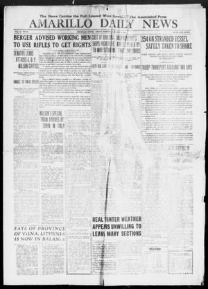 Primary view of Amarillo Daily News (Amarillo, Tex.), Vol. 10, No. 53, Ed. 1 Friday, January 3, 1919