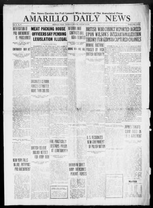 Primary view of object titled 'Amarillo Daily News (Amarillo, Tex.), Vol. 10, No. 76, Ed. 1 Thursday, January 30, 1919'.