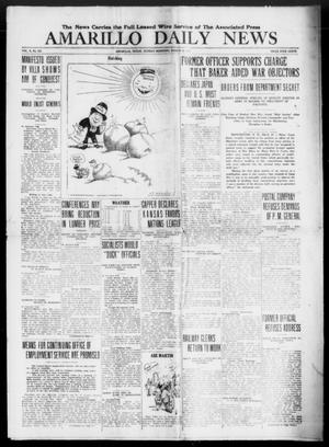 Primary view of object titled 'Amarillo Daily News (Amarillo, Tex.), Vol. 10, No. 121, Ed. 1 Sunday, March 23, 1919'.