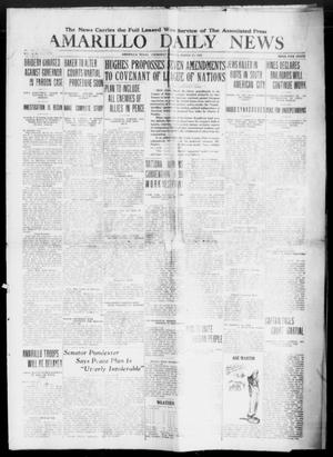 Primary view of object titled 'Amarillo Daily News (Amarillo, Tex.), Ed. 1 Thursday, March 27, 1919'.
