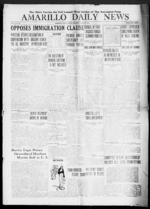 Primary view of object titled 'Amarillo Daily News (Amarillo, Tex.), Vol. 10, No. 125, Ed. 1 Friday, March 28, 1919'.