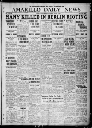 Primary view of object titled 'Amarillo Daily News (Amarillo, Tex.), Vol. 11, No. 62, Ed. 1 Wednesday, January 14, 1920'.
