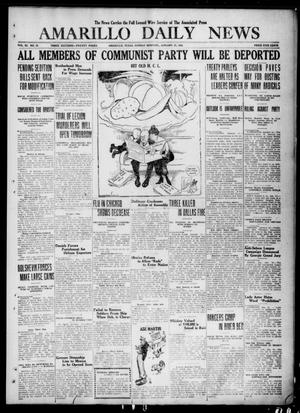 Primary view of object titled 'Amarillo Daily News (Amarillo, Tex.), Vol. 11, No. 72, Ed. 1 Sunday, January 25, 1920'.