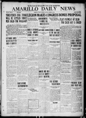 Primary view of object titled 'Amarillo Daily News (Amarillo, Tex.), Vol. 11, No. 121, Ed. 1 Tuesday, March 23, 1920'.