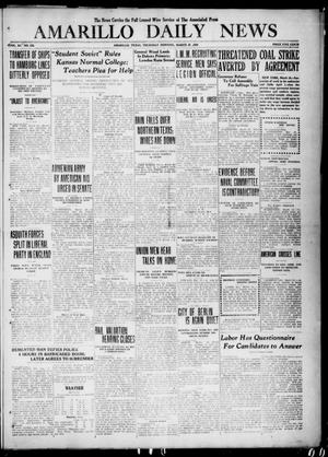 Primary view of object titled 'Amarillo Daily News (Amarillo, Tex.), Vol. 11, No. 123, Ed. 1 Thursday, March 25, 1920'.