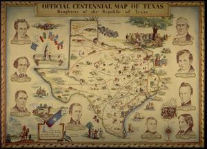 "Primary view of object titled '""Official Centennial Map""'."