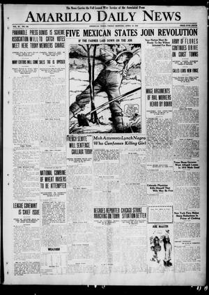 Primary view of object titled 'Amarillo Daily News (Amarillo, Tex.), Vol. 11, No. 148, Ed. 1 Friday, April 23, 1920'.