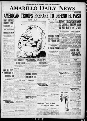 Primary view of object titled 'Amarillo Daily News (Amarillo, Tex.), Vol. 11, No. 153, Ed. 1 Thursday, April 29, 1920'.