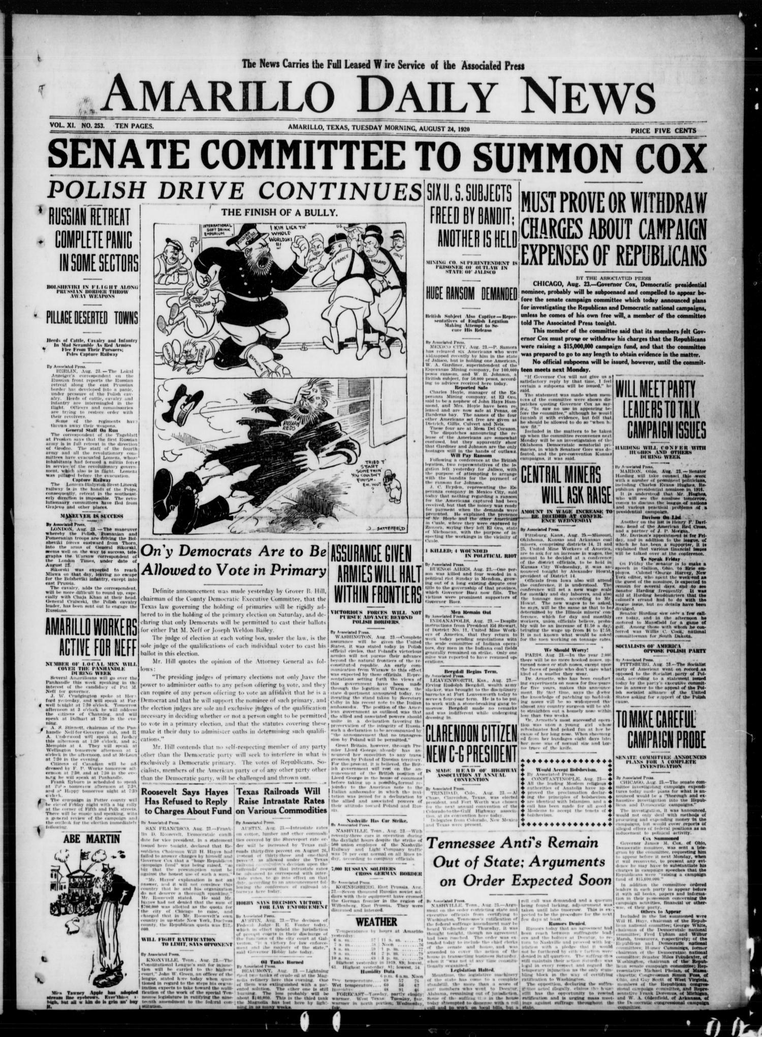 Amarillo Daily News (Amarillo, Tex ), Vol  11, No  253, Ed