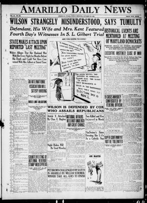 Primary view of object titled 'Amarillo Daily News (Amarillo, Tex.), Vol. 11, No. 309, Ed. 1 Friday, October 29, 1920'.