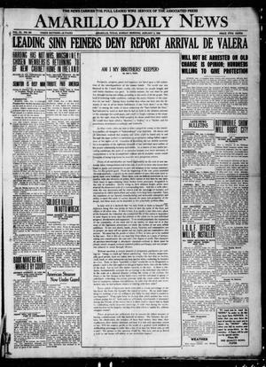 Primary view of object titled 'Amarillo Daily News (Amarillo, Tex.), Vol. 11, No. 365, Ed. 1 Sunday, January 2, 1921'.