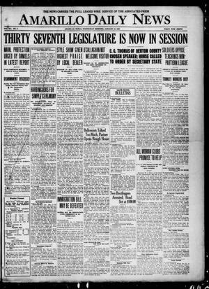 Primary view of Amarillo Daily News (Amarillo, Tex.), Vol. 12, No. 8, Ed. 1 Wednesday, January 12, 1921