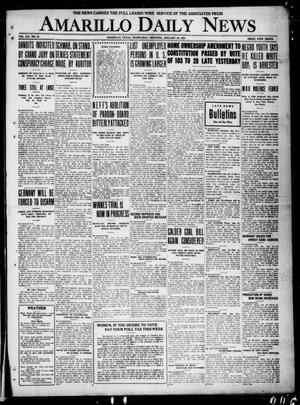 Primary view of object titled 'Amarillo Daily News (Amarillo, Tex.), Vol. 12, No. 19, Ed. 1 Wednesday, January 26, 1921'.