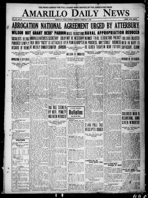 Primary view of object titled 'Amarillo Daily News (Amarillo, Tex.), Vol. 12, No. 24, Ed. 1 Tuesday, February 1, 1921'.