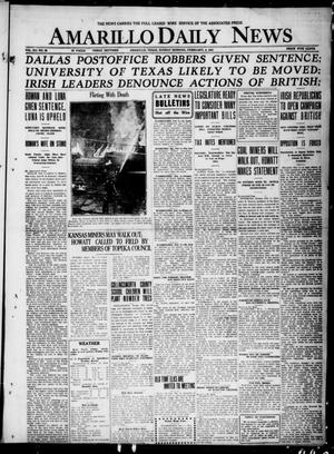 Primary view of object titled 'Amarillo Daily News (Amarillo, Tex.), Vol. 12, No. 29, Ed. 1 Sunday, February 6, 1921'.