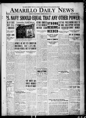 Primary view of object titled 'Amarillo Daily News (Amarillo, Tex.), No. 32, Ed. 1 Thursday, February 10, 1921'.
