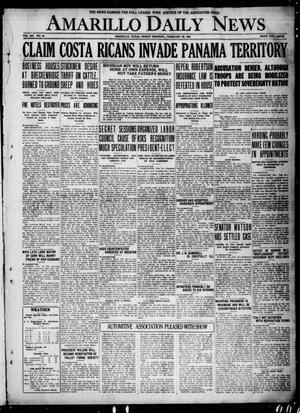 Primary view of object titled 'Amarillo Daily News (Amarillo, Tex.), Vol. 12, No. 44, Ed. 1 Friday, February 25, 1921'.