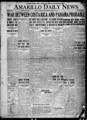 Primary view of object titled 'Amarillo Daily News (Amarillo, Tex.), Vol. 12, No. 46, Ed. 1 Sunday, February 27, 1921'.