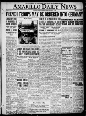 Primary view of object titled 'Amarillo Daily News (Amarillo, Tex.), Vol. 12, No. 48, Ed. 1 Wednesday, March 2, 1921'.