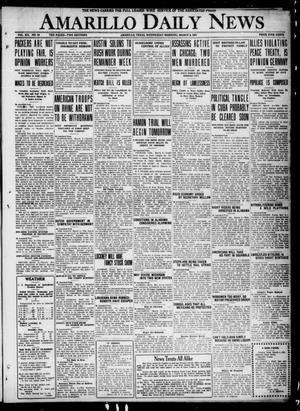 Primary view of object titled 'Amarillo Daily News (Amarillo, Tex.), Vol. 12, No. 54, Ed. 1 Wednesday, March 9, 1921'.