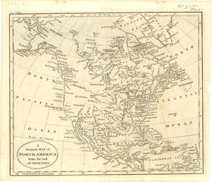 "Primary view of object titled '""A General Map of North America from the best Authorities""'."
