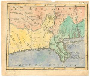 Primary view of object titled 'Untitled map of Louisiana and the Gulf of Mexico'.